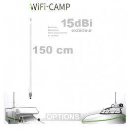 Supplement* 150cm 15dbi (au lieu de 45cm 9dbi)  pour Alfa KIT WiFi CAMPING CAMPPRO