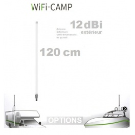 Supplement* 120cm 12dbi (au lieu de 45cm 9dbi)  pour Alfa KIT WiFi CAMPING CAMPPRO