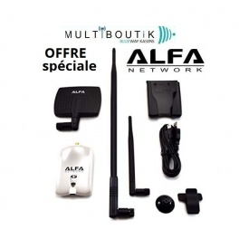 Alfa AWUS036NHR V2 2000mw U-mount + Panneau alfa + antenne 9dbi