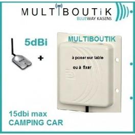 Alfa awus036h + Panneau 18dbi* max (sans câble)