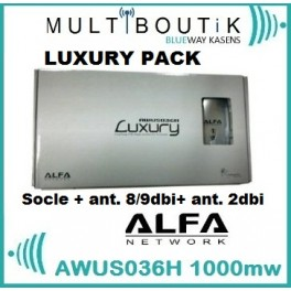 ALFA AWUS036H 1w LUXURY PACK 8/9dbi ORIGINAL (exclusivité)
