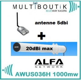YAGI TUBE BAZOOKA 20dbi max  + ALFA AWUS036H