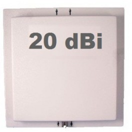 Antenne Wifi Panneau / Panel 20 dBi 2.4 GHz + Câble 3m