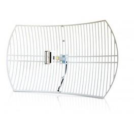 Antenne Wifi Parabolique GRID 24dbi 2.4 GHz + Câble 5m