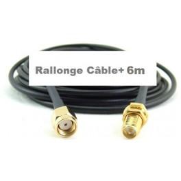 + 6 M Câble Rallonge type Très faibles Pertes blindé h155