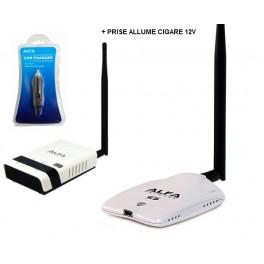 Routeur R36 Alfa Network + Alfa AWUS036NHR V2 + Prise Allume-cigare ACR-12* Alfa Network 12V