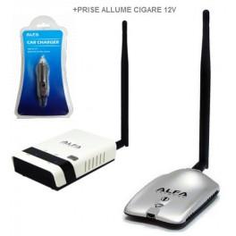 Alfa awus036h + routeur répéteur alfa R36 + Prise Allume-cigare ACR-12* Alfa Network 12V