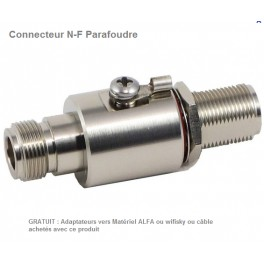 Adaptateur Parafoudre  2.4 GHz N-connector to N-jack