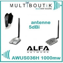 ALFA AWUS036H 1w 5dBi  + pack mount ventouse - PACK Standart