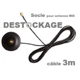 DESTOCKAGE// Socle 3m pour antenne wifi type Rp-sma (NEUF avec défaut)