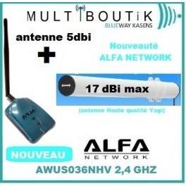 Yagi TUBE BAZOOKA 17dbi max  + ALFA AWUS036NHV