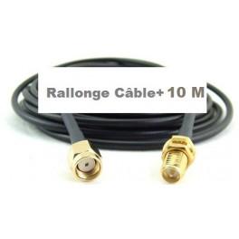 + 10 M Câble Rallonge type Très faibles Pertes blindé h155