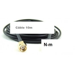 + 10 M Câble Cordon coaxial  N-m vers Rp-Sma-m  Ultra Faibles Pertes H1000,LMR-400-UF, RTK-400,ou CNT-400 10.3mm