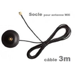 Socle pour antenne wifi type Rp-sma 3 mètres