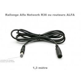 Rallonge 1,3m Pour chargeurs Routeurs Alfa Network R36, ACR-12, AC1200R, aip-w525hu...