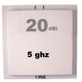 Antenne Wifi Panneau / Panel 20 dbi 5.0 GHz + Câble 3m