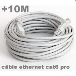+ 10 M Câble ethernet extérieur (10 mètres) Cat. 6 FTP