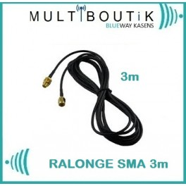 + 3 M Câble Rallonge SMA-to SMA type standart