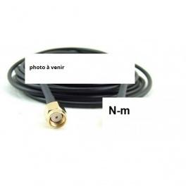 + 3 M Câble Cordon coaxial  N-m vers Rp-Sma-m  Ultra Faibles Pertes H1000,LMR-400-UF, RTK-400,ou CNT-400 10.3mm