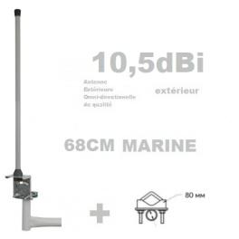 Antenne Wifi Omnidirectionnelle extérieure 68cm marine  N-F sans câble