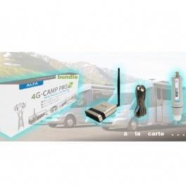 ALFA Network kit ROUTEUR + Tube-U4G -  4G/LTE USB pour extérieur (antenne 20cm)