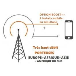 kit ProBOOSTEUR©  4G+ 3 porteuses EUROPE extérieur ROUTEUR , 4g+ BOOST 2 FORFAITS  inclus antenne et câbles