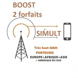 kit ProBOOSTEUR©  Routeur 4G porteuse Europe étendue , 4g+ BOOST 2 FORFAITS SIMULT avec antenne Aera Spéciale Van / fourgons ult