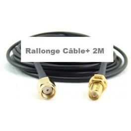 + 2 M Câble Rallonge type Très Faibles Pertes blindé h155