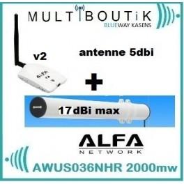 YAGI TUBE BAZOOKA 17dbi max  + ALFA AWUS036NHR V2