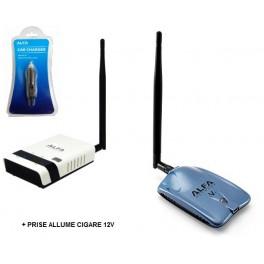 Routeur R36 Alfa Network + Alfa AWUS036NHV + Prise Allume-cigare ACR-12* Alfa Network 12V